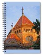 Sunlit Church Aglow Spiral Notebook