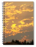 Sunlit Clouds Sunset Art Prints Gifts Orange Yellow Sunsets Baslee Troutman Spiral Notebook