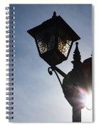 Sunlit Jewels - Stained Glass Lamps And Sunburst Right Spiral Notebook