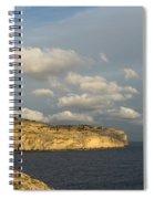 Sunlit Limestone Cliffs In Malta Spiral Notebook