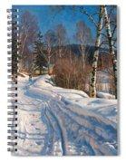 Sunlit Winter Landscape Spiral Notebook