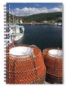 Sunny Cape Breton Harbor Spiral Notebook