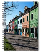 Sunny Colors Of Burano Spiral Notebook