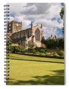 Sunny Day At Hexham Abbey Spiral Notebook