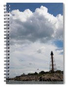 Sunny Day At Marblehead Lighthouse Spiral Notebook