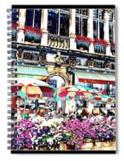Sunny Day On The Grand Place Spiral Notebook