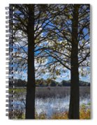 Sunny Day On The Pond Spiral Notebook