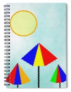 Sunny Days At The Beach Spiral Notebook