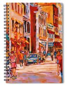 Sunny Downtown  Spiral Notebook
