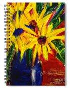 Sunny Flowers Spiral Notebook