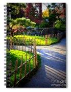 Sunny Garden Path Spiral Notebook