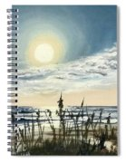 Sunny Morning On Crescent Beach Spiral Notebook