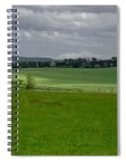 Sunny Patches On The Field. Spiral Notebook