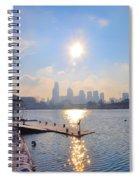 Sunny Schuylkill River In Winter Spiral Notebook