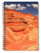 Sunny Skies At The Wave Spiral Notebook