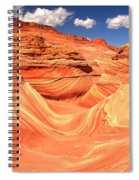 Sunny Skies Over The Wave Spiral Notebook