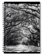 Sunny Southern Day - Black And White With Black Border Spiral Notebook