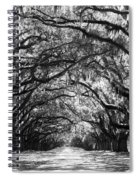 Sunny Southern Day - Black And White Spiral Notebook