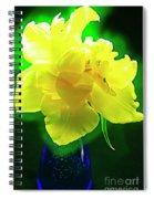 Sunny Tulip In Vase. Spiral Notebook