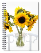 Sunny Vase Of Sunflowers Spiral Notebook