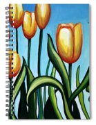 Sunny Yellow Tulips Spiral Notebook