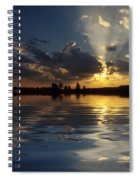 Sunray Sunset Spiral Notebook
