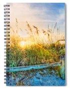 Sunrays On The Beach Spiral Notebook