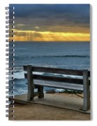 Sunrays On The Horizon Spiral Notebook