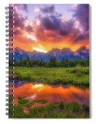Sunrays Over The Tetons Spiral Notebook