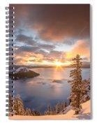 Sunrise After Summer Snowfall Spiral Notebook
