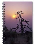 Sunrise And Fog Spiral Notebook