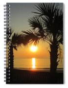Sunrise And Palms Spiral Notebook
