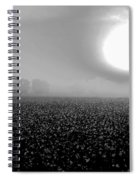 Sunrise And The Cotton Field Bw Spiral Notebook