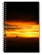 Sunrise At 38k Over El Salvador Spiral Notebook
