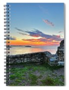 Sunrise At Castle Rock Marblehead Ma Rocky Coast Spiral Notebook