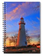 Sunrise At Marblehead Lighthouse Panorama Spiral Notebook