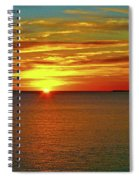 Sunrise At Matane Spiral Notebook