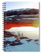 Sunrise At Mesa Arch Spiral Notebook