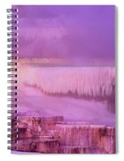 Sunrise At Minerva Springs Yellowstone National Park Spiral Notebook