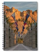 Sunrise At Mount Rushmore Promenade Spiral Notebook