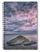 Sunrise At Mumbles Lighthouse Spiral Notebook