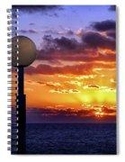 Sunrise At Sea Off The Delmarva Coast Spiral Notebook