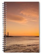 Sunrise At St Mary's Lighthouse Spiral Notebook