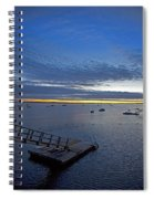 Sunrise At The Barnstable Yacht Club Spiral Notebook