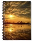 Sunrise At The Big Marsh 2 Spiral Notebook