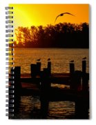Sunrise At The Boat Launch  Spiral Notebook
