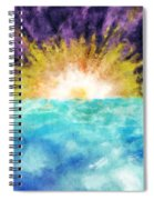 Sunrise At The Edge Of Earth Spiral Notebook
