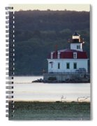 Sunrise At The Esopus Lighthouse Spiral Notebook
