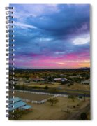 Sunrise At The Horse Barn Spiral Notebook