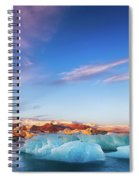 Sunrise At The Iceberg Lagoon Spiral Notebook
